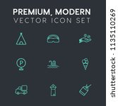 modern  simple vector icon set... | Shutterstock .eps vector #1135110269