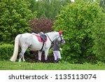 not identifiable equestrian... | Shutterstock . vector #1135113074