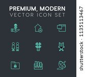 modern  simple vector icon set... | Shutterstock .eps vector #1135113467