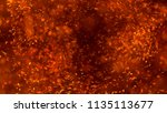 burning red hot sparks fly from ... | Shutterstock . vector #1135113677