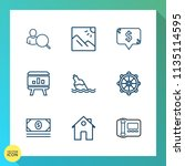 modern  simple vector icon set... | Shutterstock .eps vector #1135114595