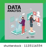 technology data analysis with...   Shutterstock .eps vector #1135116554