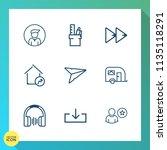 modern  simple vector icon set... | Shutterstock .eps vector #1135118291