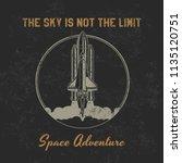 vintage spaceship american old... | Shutterstock .eps vector #1135120751