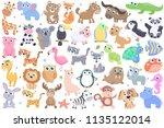 cute cartoon animals set. | Shutterstock .eps vector #1135122014
