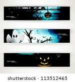 abstract bright blue header set ... | Shutterstock .eps vector #113512465