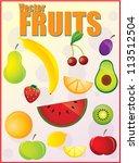 fruits | Shutterstock .eps vector #113512504
