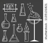 set of laboratory equipment....   Shutterstock .eps vector #1135131821