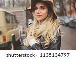 lifestyle portrait of young... | Shutterstock . vector #1135134797