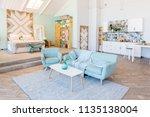 fashionable spacious apartment... | Shutterstock . vector #1135138004