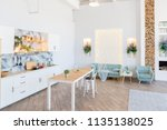 fashionable spacious apartment... | Shutterstock . vector #1135138025