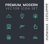 modern  simple vector icon set... | Shutterstock .eps vector #1135139999