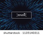lines composed of glowing... | Shutterstock .eps vector #1135140311
