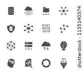 big data icons | Shutterstock .eps vector #1135140374