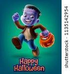 illustration kid halloween   Shutterstock .eps vector #1135142954