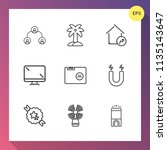 modern  simple vector icon set... | Shutterstock .eps vector #1135143647