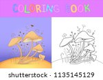 children's coloring book with... | Shutterstock .eps vector #1135145129