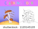children's coloring book with... | Shutterstock .eps vector #1135145135