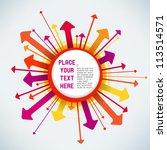 explosive arrows | Shutterstock .eps vector #113514571