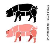 Pork or pig cuts