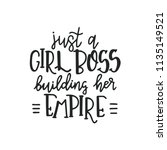 just a girl boss building her... | Shutterstock .eps vector #1135149521