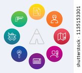 modern  simple vector icon set... | Shutterstock .eps vector #1135153301