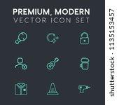 modern  simple vector icon set...   Shutterstock .eps vector #1135153457
