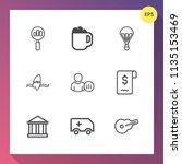 modern  simple vector icon set... | Shutterstock .eps vector #1135153469