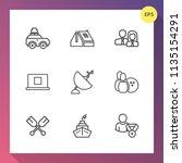 modern  simple vector icon set... | Shutterstock .eps vector #1135154291
