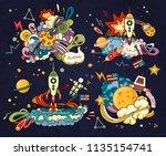 cartoon vector illustration of... | Shutterstock .eps vector #1135154741