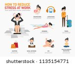 how to reduce stress at work... | Shutterstock .eps vector #1135154771