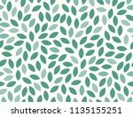 leaves pattern. endless... | Shutterstock .eps vector #1135155251