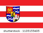 flag of varazdin county is a... | Shutterstock .eps vector #1135155605