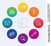 modern  simple vector icon set... | Shutterstock .eps vector #1135155797