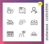 modern  simple vector icon set... | Shutterstock .eps vector #1135155935