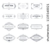 collection of vintage patterns. ... | Shutterstock .eps vector #1135160021