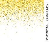 gold glitter falling particles...   Shutterstock .eps vector #1135161347