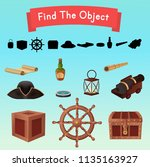 find the object. objects from a ... | Shutterstock .eps vector #1135163927
