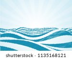blue water sea waves in the... | Shutterstock .eps vector #1135168121