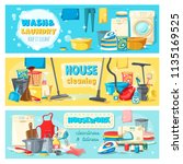 laundry and wash  house... | Shutterstock .eps vector #1135169525