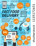 delivery service fast food... | Shutterstock .eps vector #1135172651