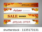set banners autumn or fall... | Shutterstock .eps vector #1135173131