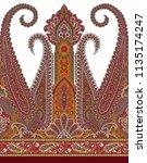 seamless paisley indian motif | Shutterstock . vector #1135174247