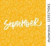 autumn month lettering.... | Shutterstock .eps vector #1135174361