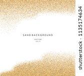 sand background. vector eps 10. | Shutterstock .eps vector #1135174634