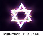 glitched  magen david   the... | Shutterstock .eps vector #1135176131