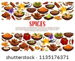 fragrant spices and condiments... | Shutterstock .eps vector #1135176371