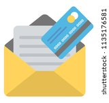 and atm or debit card inside... | Shutterstock .eps vector #1135176581