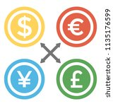 foreign currencies sign with... | Shutterstock .eps vector #1135176599