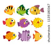 fish vector collection design | Shutterstock .eps vector #1135180367